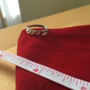 Sterling Silver Love Ring Size 5